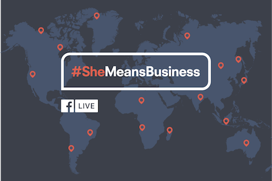 Image result for Facebook's #SheMeansBusiness Initiative