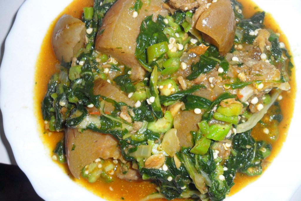 Image result for Okra leaves soup ilasa